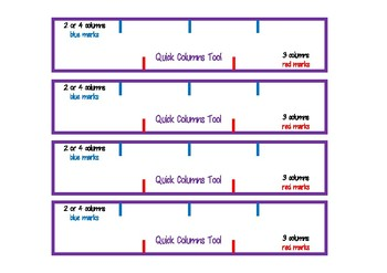 Quick Columns Tool - A4