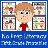 No Prep Common Core Literacy Bundle - The Complete Set (fifth grade)