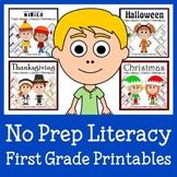 No Prep Common Core Literacy Bundle - The Complete Set (first grade)