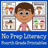 No Prep Common Core Literacy Bundle - The Complete Set (fourth grade)