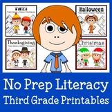 No Prep Common Core Literacy Bundle - The Complete Set (third grade)
