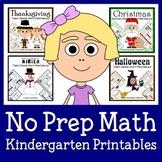 No Prep Common Core Math Bundle - The Complete Set (Kindergarten)