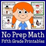 No Prep Common Core Math Bundle - The Complete Set (fifth grade)
