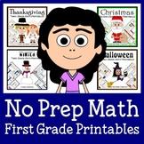 No Prep Common Core Math Bundle - The Complete Set (first grade)