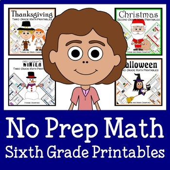 No Prep Common Core Math Bundle - The Complete Set (sixth grade)