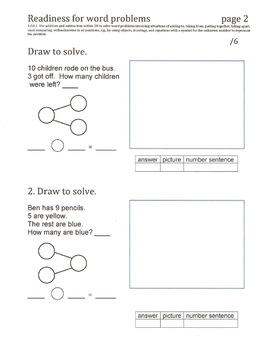 First Grade Common Core Math Quizzes & worksheets - 1st semester