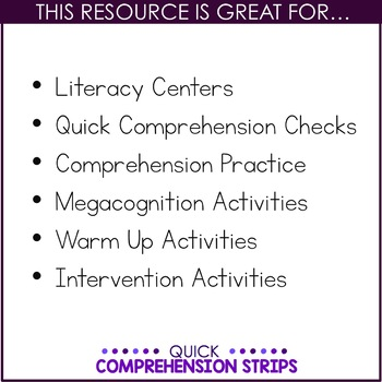 Quick Comprehension Strips