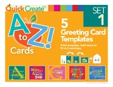 Quick Create!™ A to Z Greeting Card Templates, Set 1