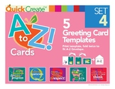 Quick Create!™ A to Z Greeting Card Templates, Set 4