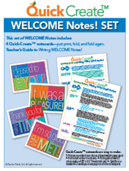 Quick Create!™ BACK-TO-SCHOOL WELCOME Notes Set