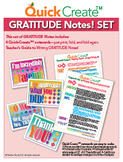 Quick Create!™ GRATITUDE Notes Set