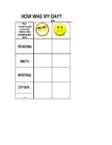 Quick Daily Behavior Chart