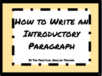 How to Write an Introductory Paragraph for a Persuasive Essay