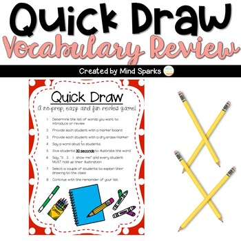 Quick Draw Game A Fun Way To Review Vocabulary By Mind Sparks Tpt