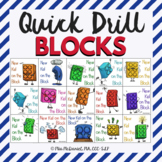 Quick Drill BLOCKS {for speech therapy or any skill drill}