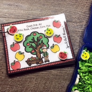 Quick Drill Boxes For Speech Therapy: Apples