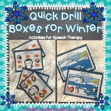 Quick Drill  Boxes for Speech Therapy-Winter Edition