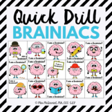 Quick Drill Brainiacs for speech therapy or any skill drill