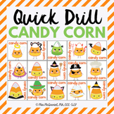 Quick Drill Candy Corn for speech therapy or any skill drill