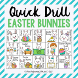 Quick Drill Easter Bunnies | speech therapy or any skill drill