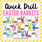 Quick Drill Easter Rabbits for speech therapy or any skill drill