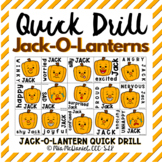 Quick Drill Jack-O-Lanterns {for any skill}