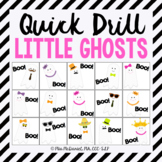 Quick Drill Ghosts for Halloween for speech therapy or any