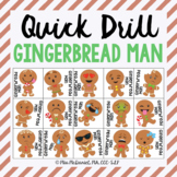 Quick Drill Gingerbread Men | speech therapy or any skill drill