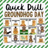 Quick Drill Groundhog Day for speech therapy or any skill drill