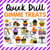 Quick Drill Halloween Treats | speech therapy or any skill drill