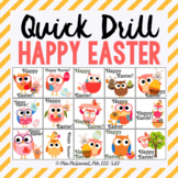 Quick Drill Happy Easter for speech therapy or any skill drill