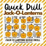 Quick Drill Jack-O-Lanterns for any skill