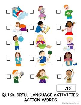 Quick Drill Language Activities: Verbs