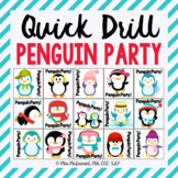 Quick Drill Penguin Party for speech therapy or any skill drill