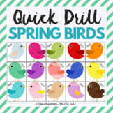 Quick Drill Spring Birds for speech therapy or any skill drill