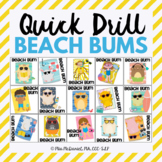 Quick Drill Summer Beach Bums for speech therapy or any sk