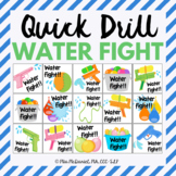 Quick Drill Summer Water Fight for speech therapy or any s