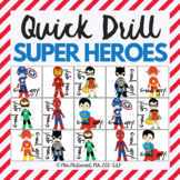Quick Drill Super Heroes Game for speech therapy or any sk