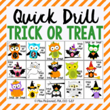 Quick Drill Trick or Treat for Halloween for speech therap