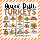 Quick Drill Turkeys for speech therapy or any skill drill