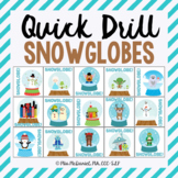 Quick Drill Winter Snowglobes for speech therapy or any sk
