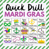 Quick Drill for Mardi Gras for speech therapy or any skill drill