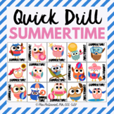 Quick Drill for Summertime for speech therapy or any skill drill