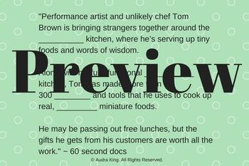 Quick ESL Mini Lesson, Miniature Kitchen Documentary!