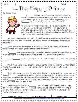 Quick & Easy CLOZE PASSAGES for Reading Comprehension and Leveling