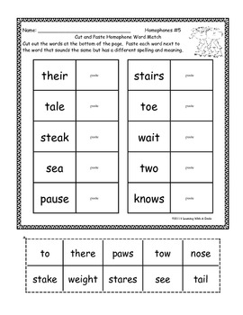Synonyms, Antonyms, Nouns, Verbs, & More ~ Cut and Paste