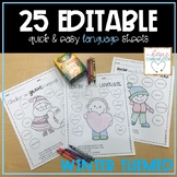 Quick & Easy Language Sheets - WINTER