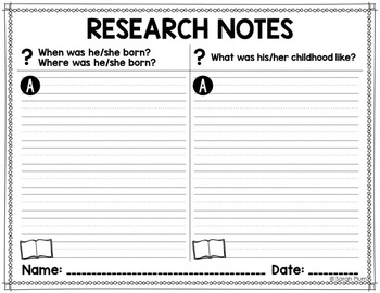 Quick, Easy, No-Prep Research Resources for ANY Historical Figure