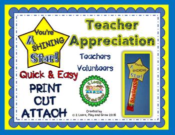 Quick & Easy Teacher Appreciation Thank you!