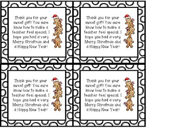 Quick & Easy Teacher Christmas Gift Thank you Cards